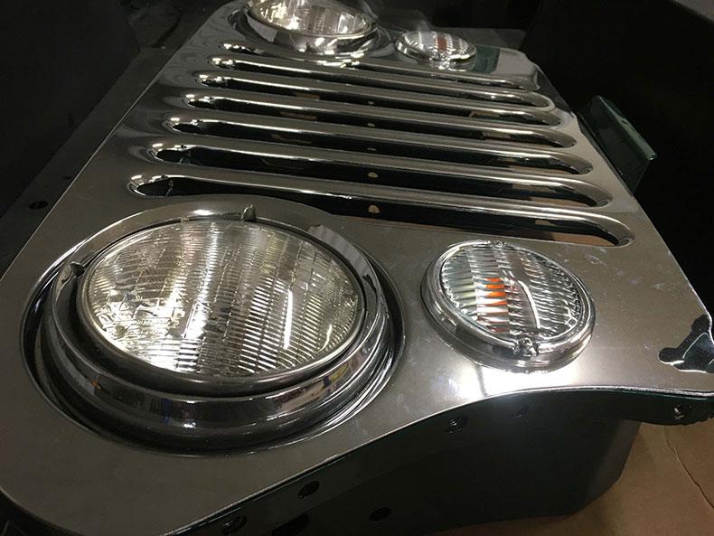the beast 1979 Jeep CJ-7 head lights