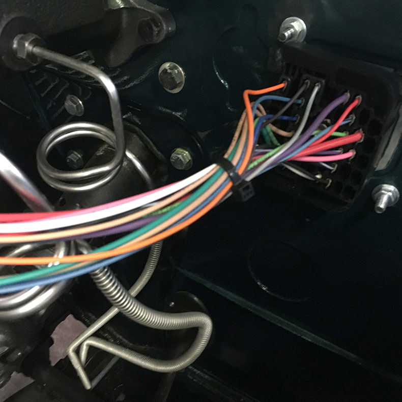 the beast 1979 Jeep CJ-7 wires