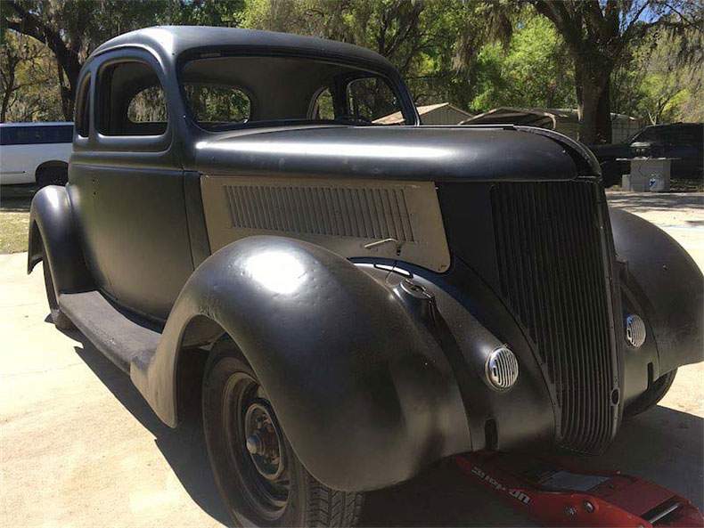 1936 ford 5-window coupe front