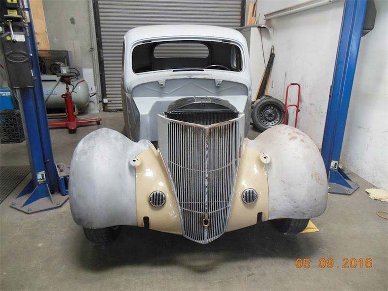 1936 ford 5-window coupe metal sealed