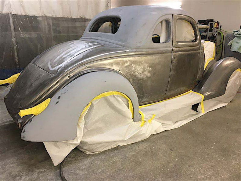 1936 ford coupe restoration at palm beach customs 3