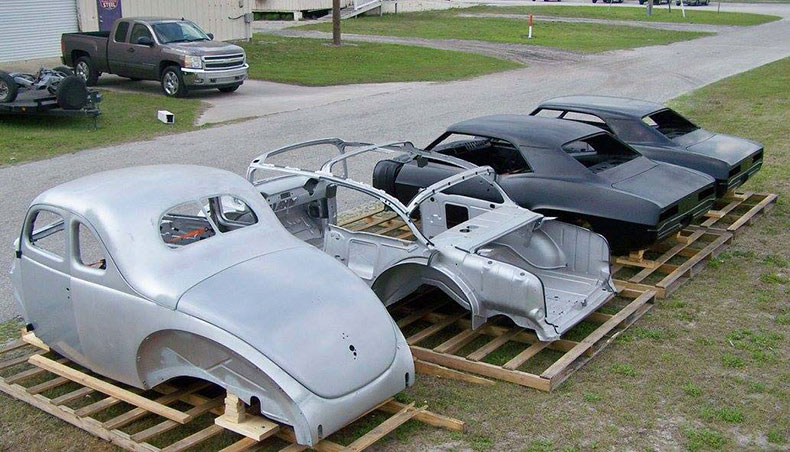 classic car restoration shop 1940 ford frame off 3