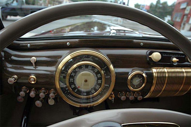palm beach customs classic car restoration 1941 linkoln zephyr dashbord