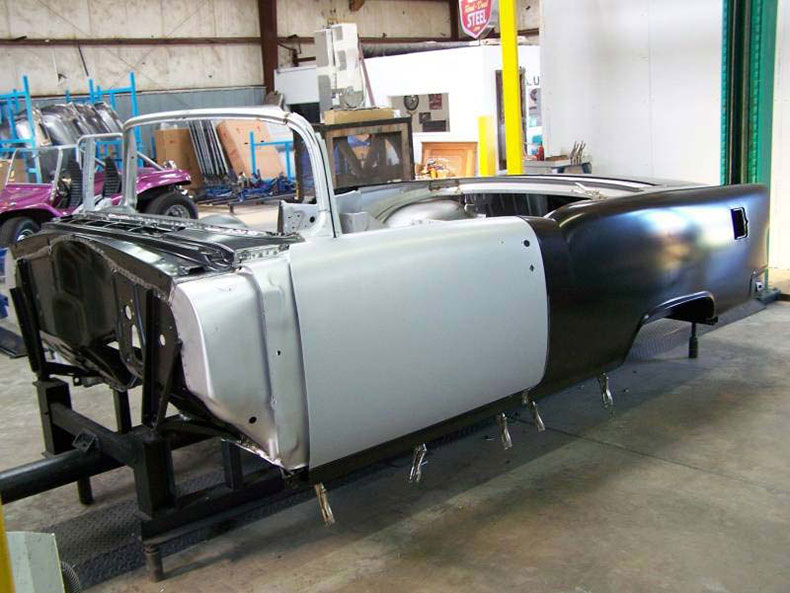1955 chevy convertible body skeleton 1