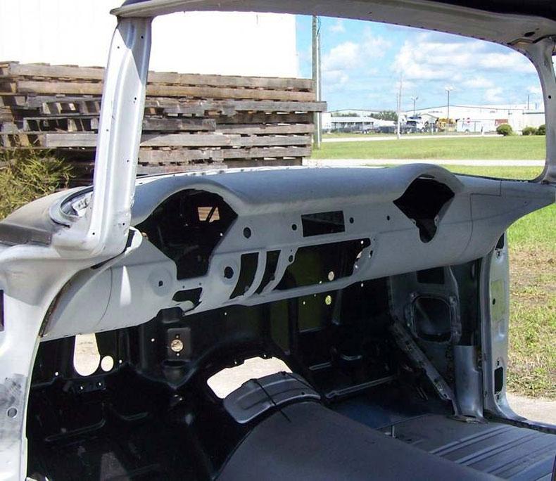 1955 chevy 2-door hardtop body skeleton