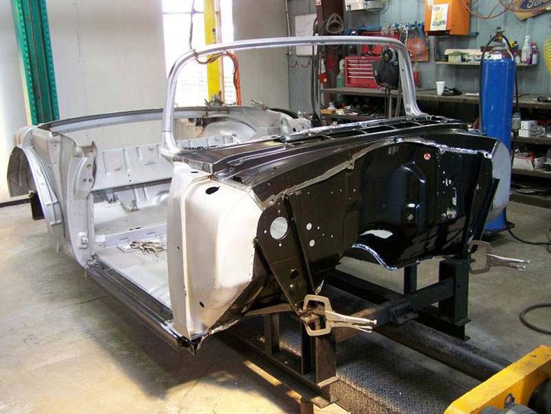 1955 chevy convertible body skeleton