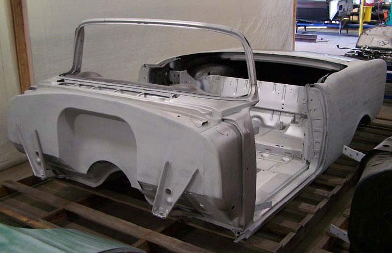 1955 chevy convertible body skeleton 2