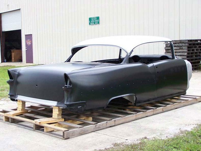 1955 chevy 2-door skeleton 1