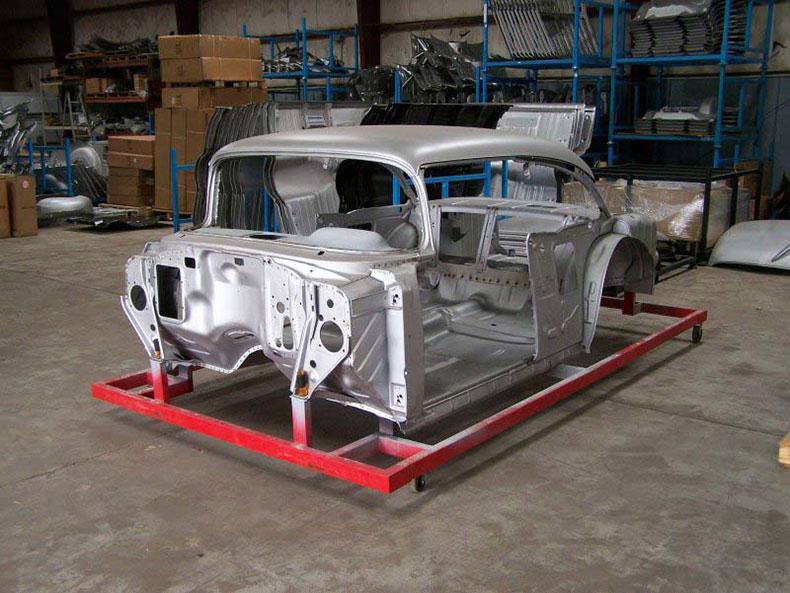 1955 chevy 2-door skeleton sedan body