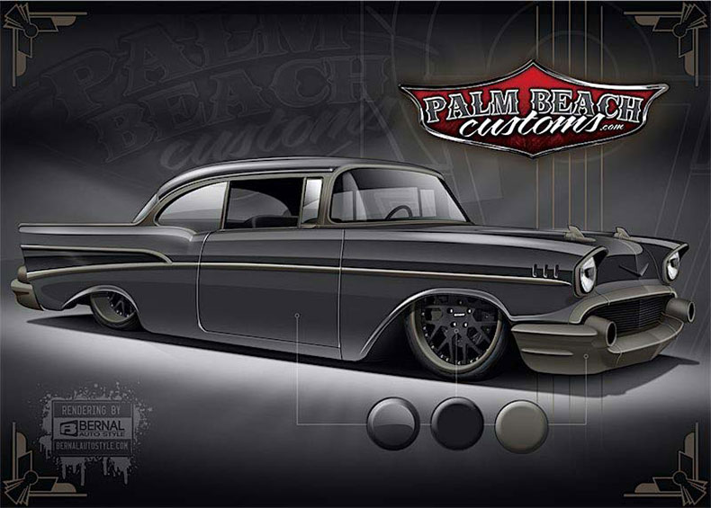 steel body replacements & services 1957 chevy rendering 1