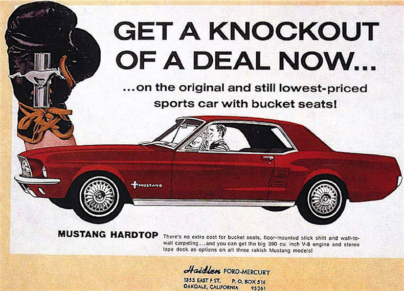classic and muscle car restoration shop 1967 ford mustang ad 1