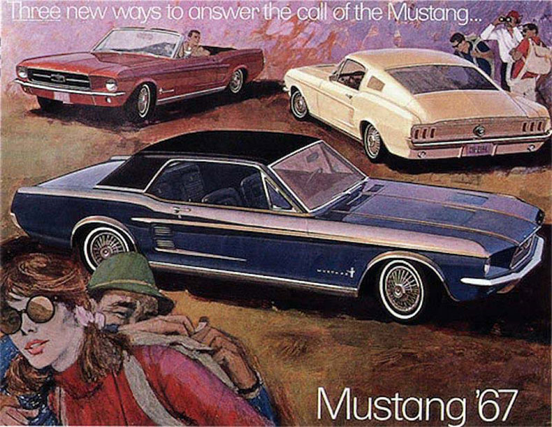 1965-66 mustang fastback ford ad