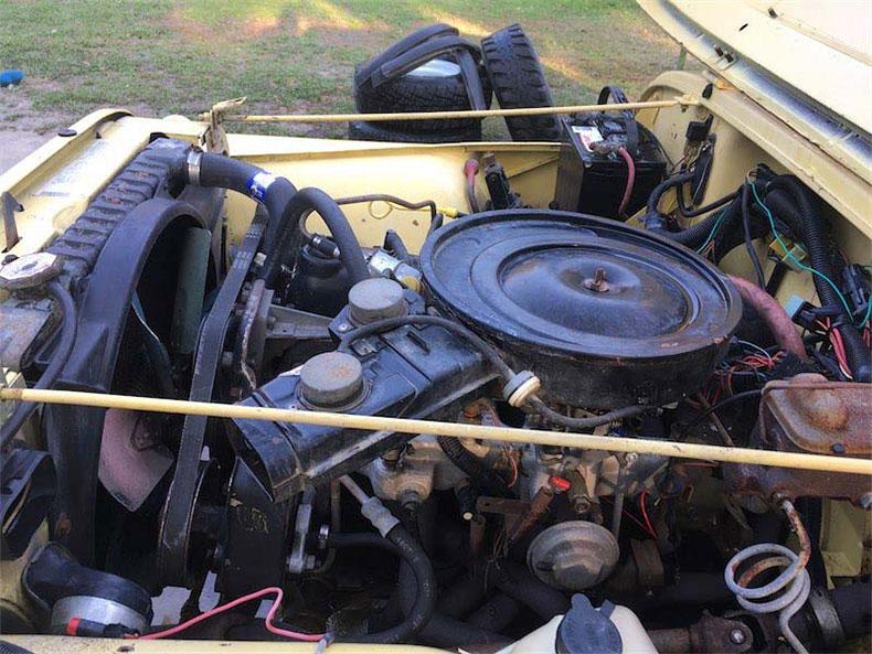 original 1984 CJ-7 jeep restoration in florida cj 7 sunshine jeep engine