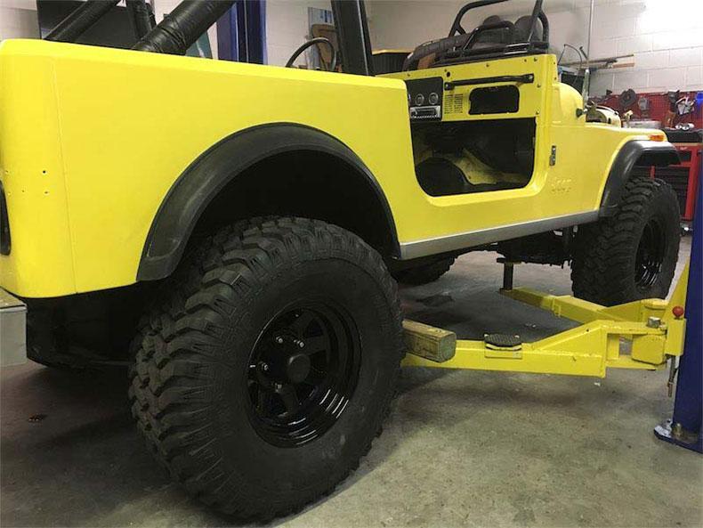 original 1984 CJ-7 jeep restoration in florida cj 7 sunshine jeep restoration