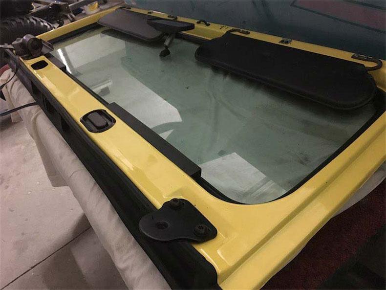 original 1984 CJ-7 jeep restoration in florida cj 7 sunshine jeep window frame
