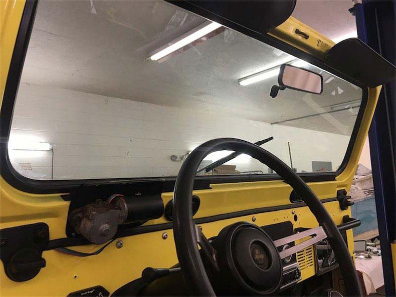 original 1984 CJ-7 jeep restoration in florida cj 7 sunshine jeep window frame 1