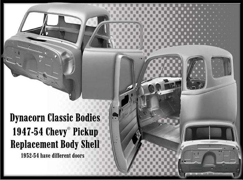 1952-54 chevy cab steel body truck