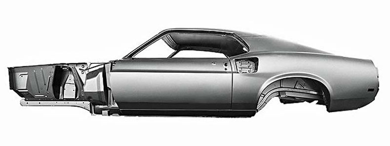 1969 mustang steel body