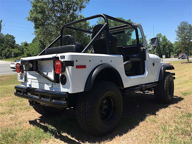 1977 automatic V8 renegade CJ-7 jeep restoration in ocala florida 7