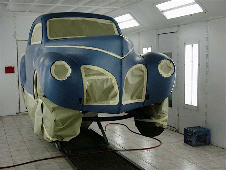 palm beach customs classic car restoration blue 1941 lincoln zephyr 2