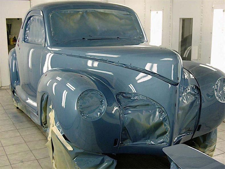 palm beach customs classic car restoration blue 1941 lincoln zephyr