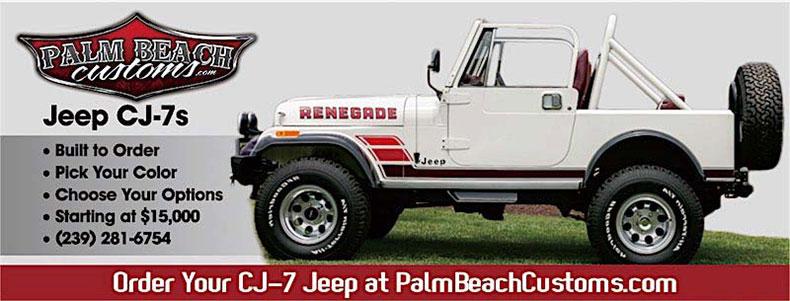 white CJ-7 Jeep custom build banner