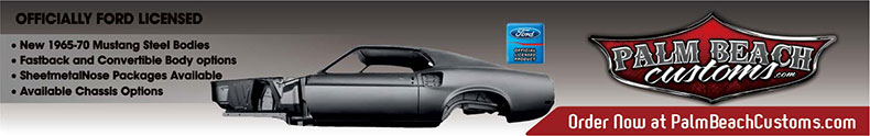 muscle car restoration mustang footer banner