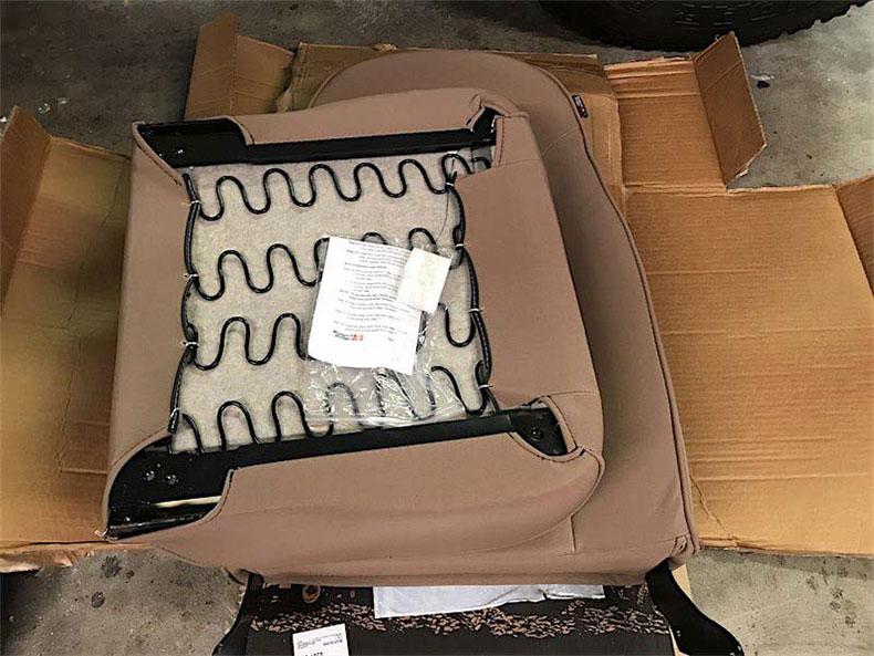 1980 CJ 5 jeep restoration new tan seats