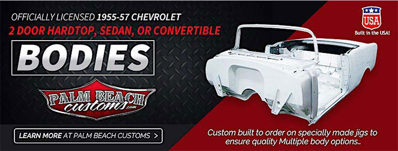 steel body replacements & services officially licensed 1955-57 chevrolet
