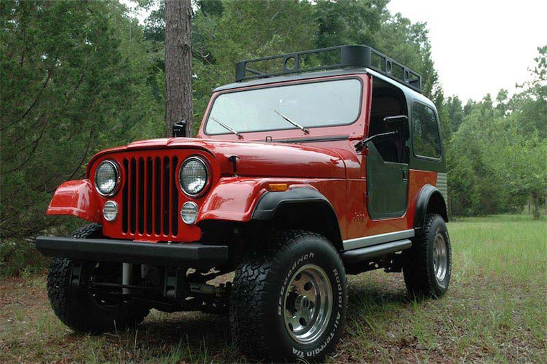CJ-7 jeep restorations & custom builds red top cj 7 jeep