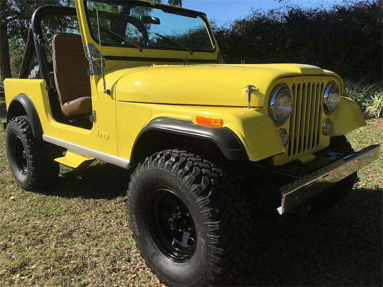 CJ-7 jeep restorations & custom builds sunshine yellow cj 7 jeep