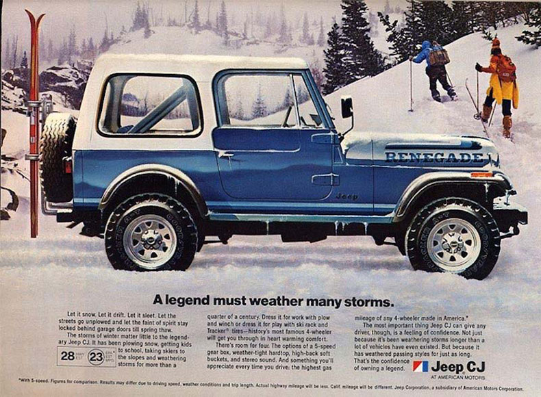 76-86 jeep CJ body tub ad