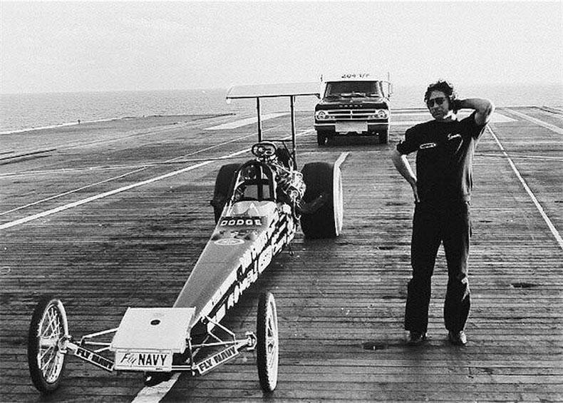 don garlit's drag racing on navy carrier