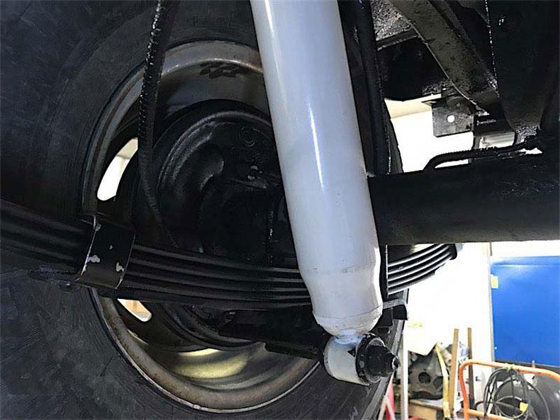 1980 CJ 5 jeep restoration new shocks for this jcj jeep build in florida