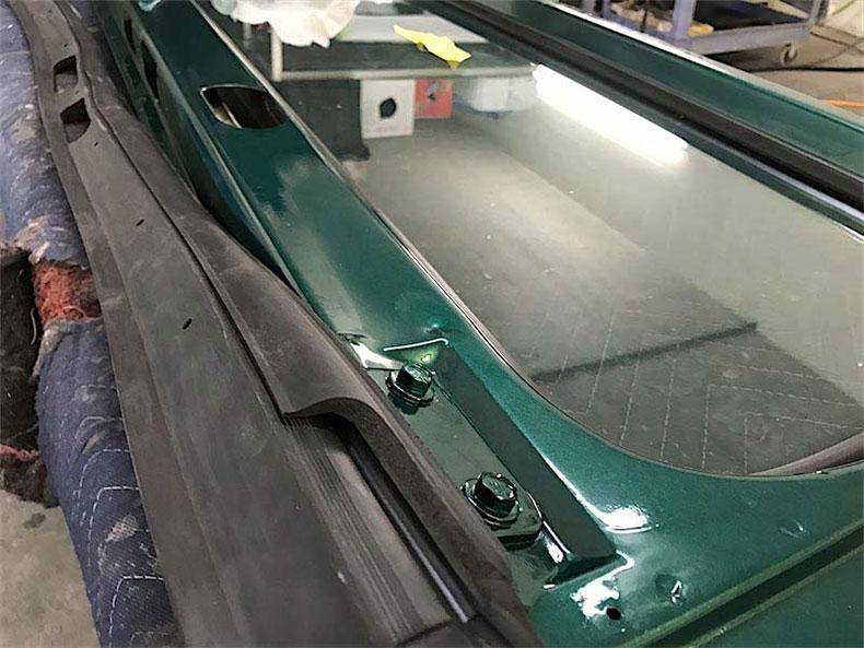 1980 CJ 5 jeep restoration windshield cowl rubber