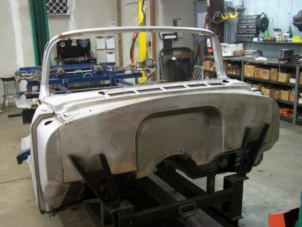 1955-56 Chevy 4' Recessed Smoothie Steel Firewall Upgrade - Image 5