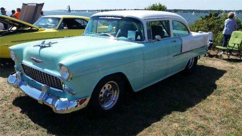 1955 chevrolet 210 custom 2 door blue