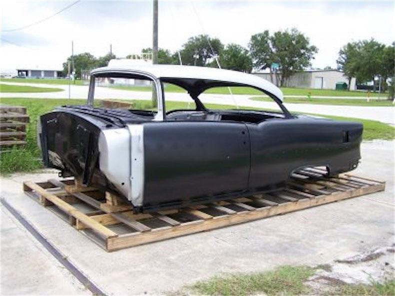 steel replacement bodies 1955 chevy 2 door hardtop body skeleton with dash quarter panels
