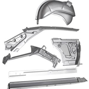 1966-67 chevy II 2-door hardtop right body side assembly