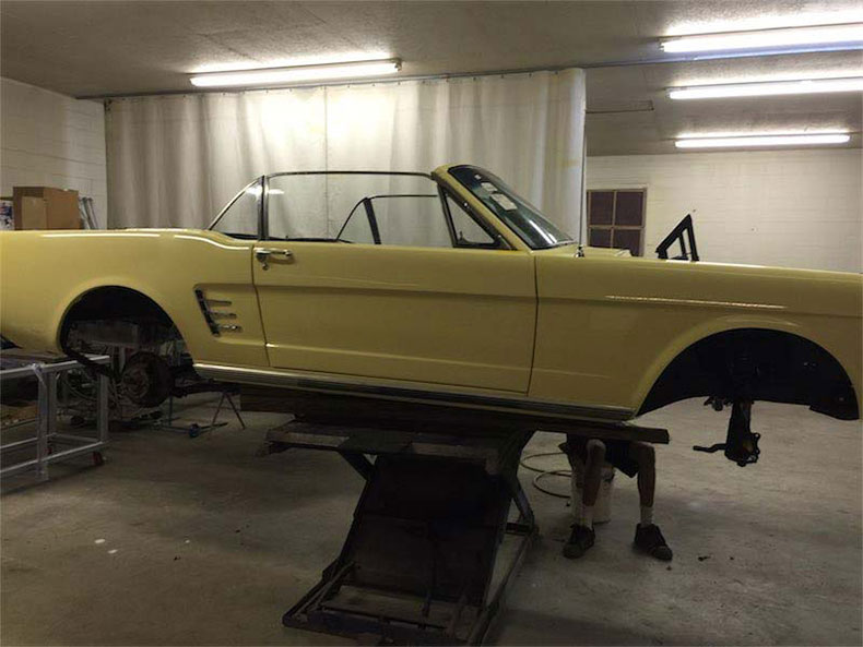 1966 mustang painted 1