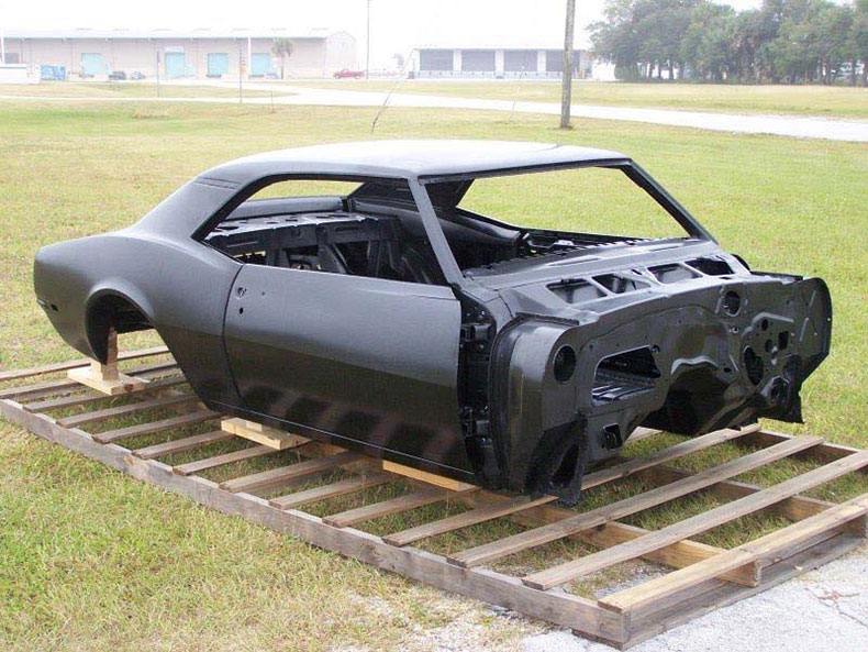 steel replacement bodies 1967 camaro coupe complete with stock heater firewall top skin drip rails quarter panels door deck lid