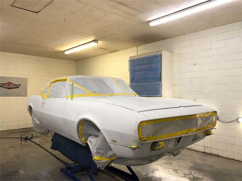 1968 camaro painting process