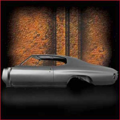 New Crisp Steel Body For Your '70 Chevelle Coupe With HEATER DELETE Firewall Option