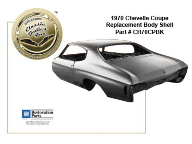 chevelle coupe replacement body shell