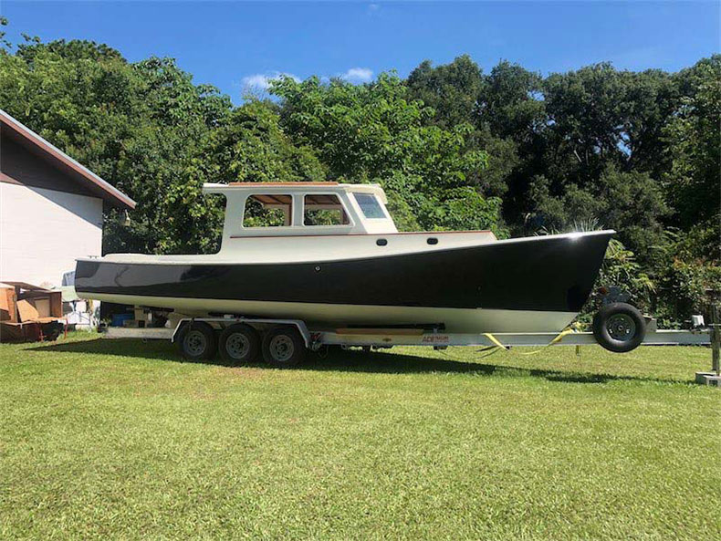 1972 wasque boat restoration painted and exterior done