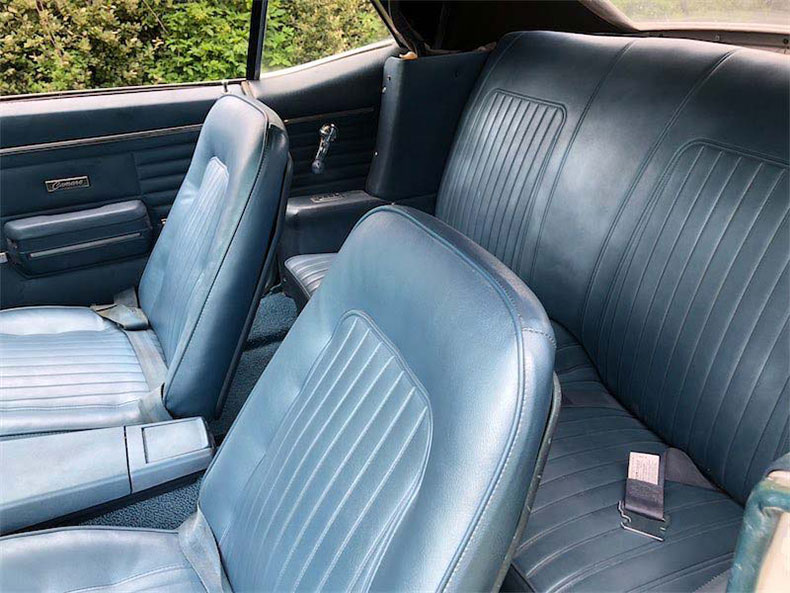 1968 camaro inside view