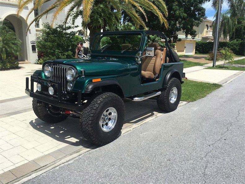 cj 7 green jeep restorations