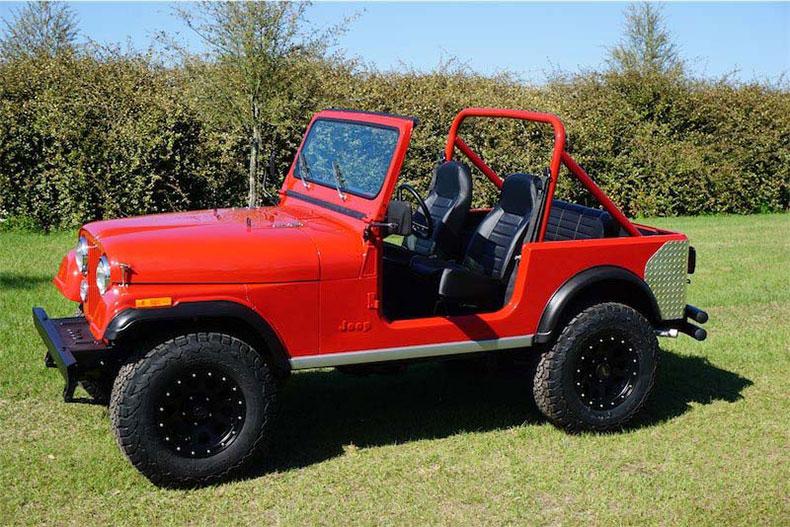 cj 7 red jeep restorations