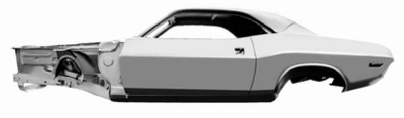 dynacorn 1970 challenger replacement steel body