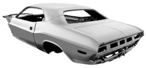 Faithful Replacement Steel Body For 1970 Challenger, Exclusive At Palm Beach Customs, Florida